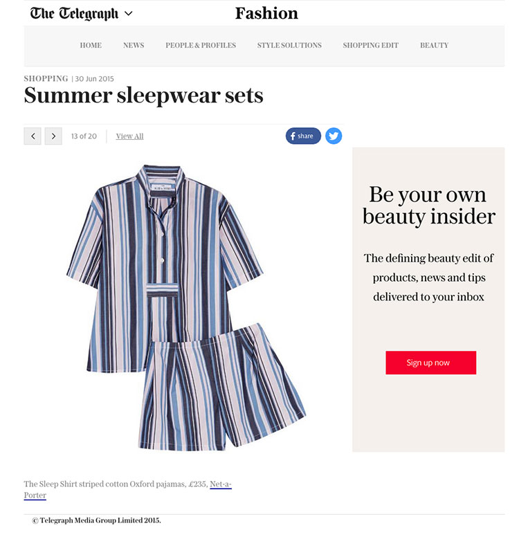 the daily telegraph, the telegraph, newspapers, online, the sleep shirt, press