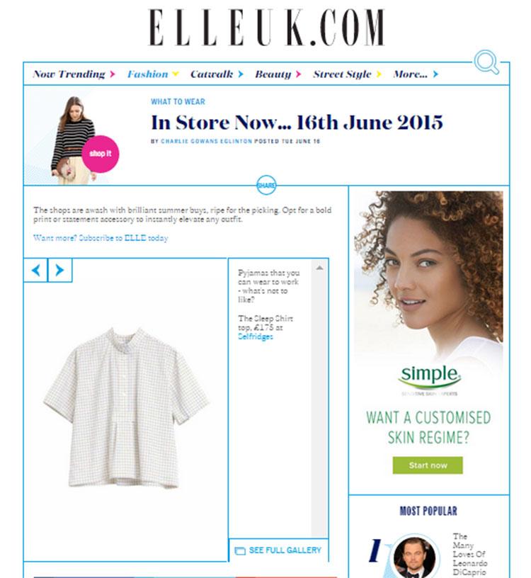 elle, press, magazines, online, the sleep shirt