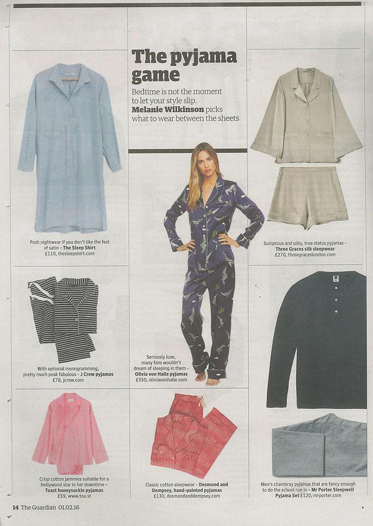 press, luxury, pyjamas, pajamas, the sleep shirt, nightshirt
